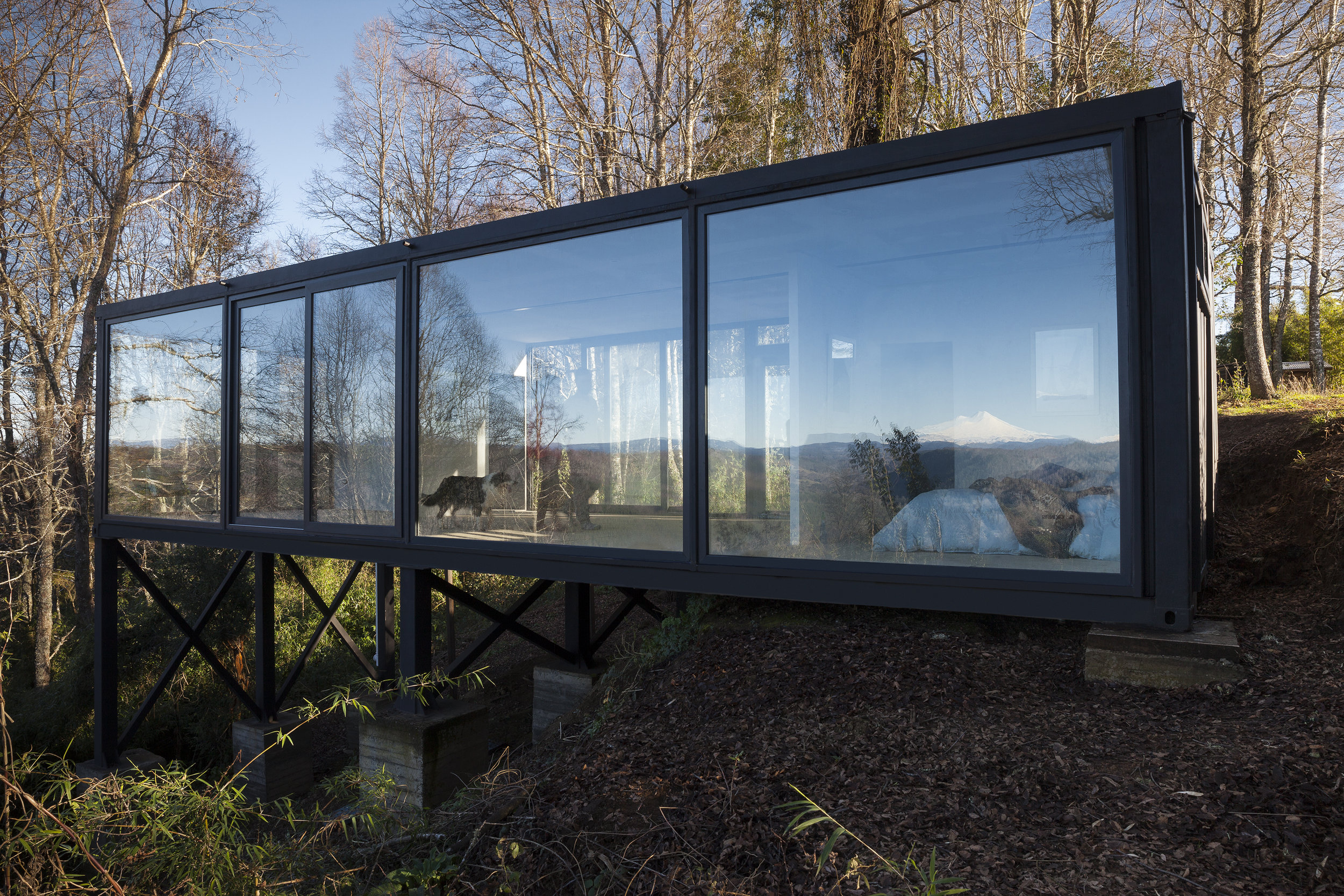 Samadhi Eco Resort recycled shipping container cabin Chile