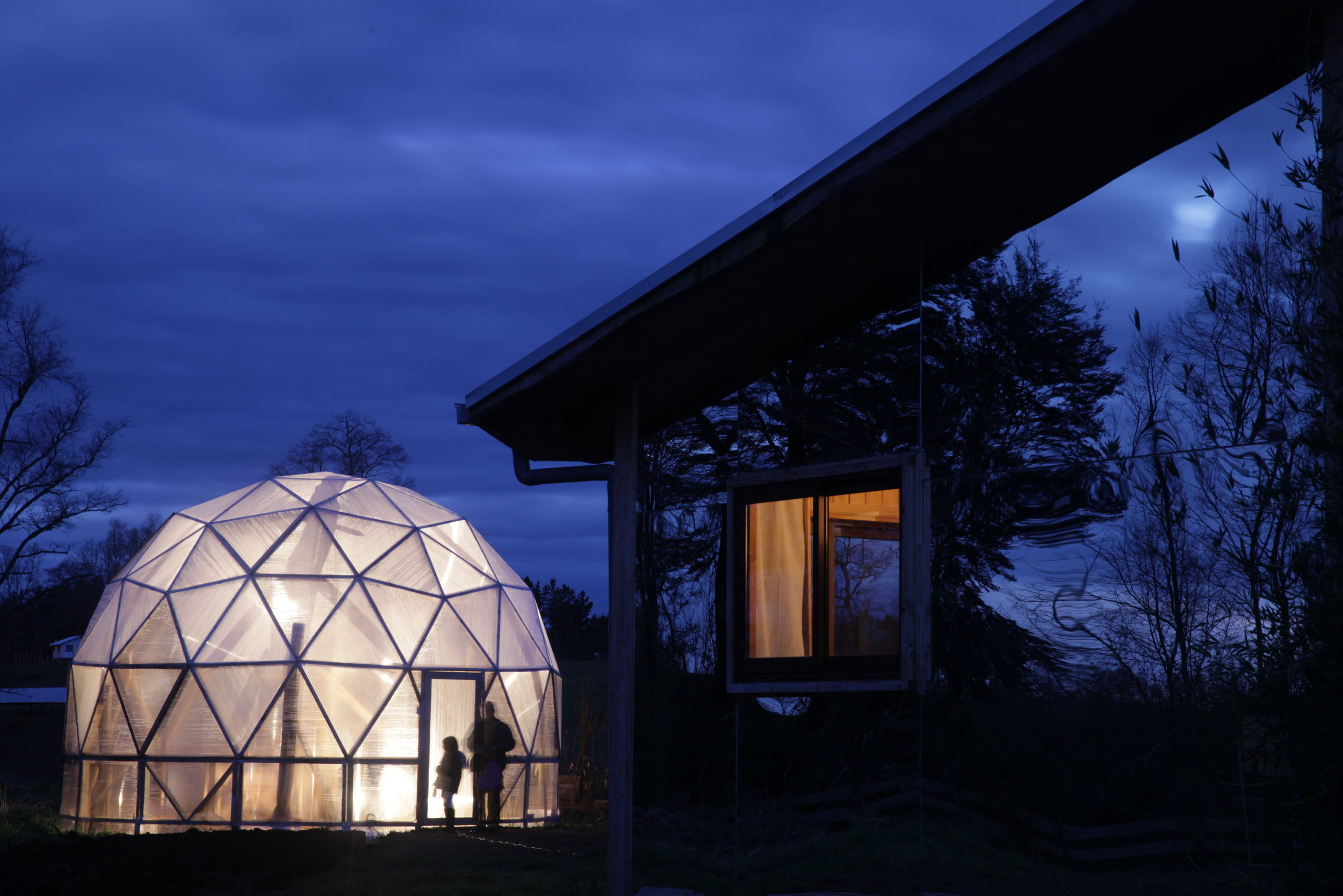 Samadhi Eco Resort biodome organic greenhouse Chile