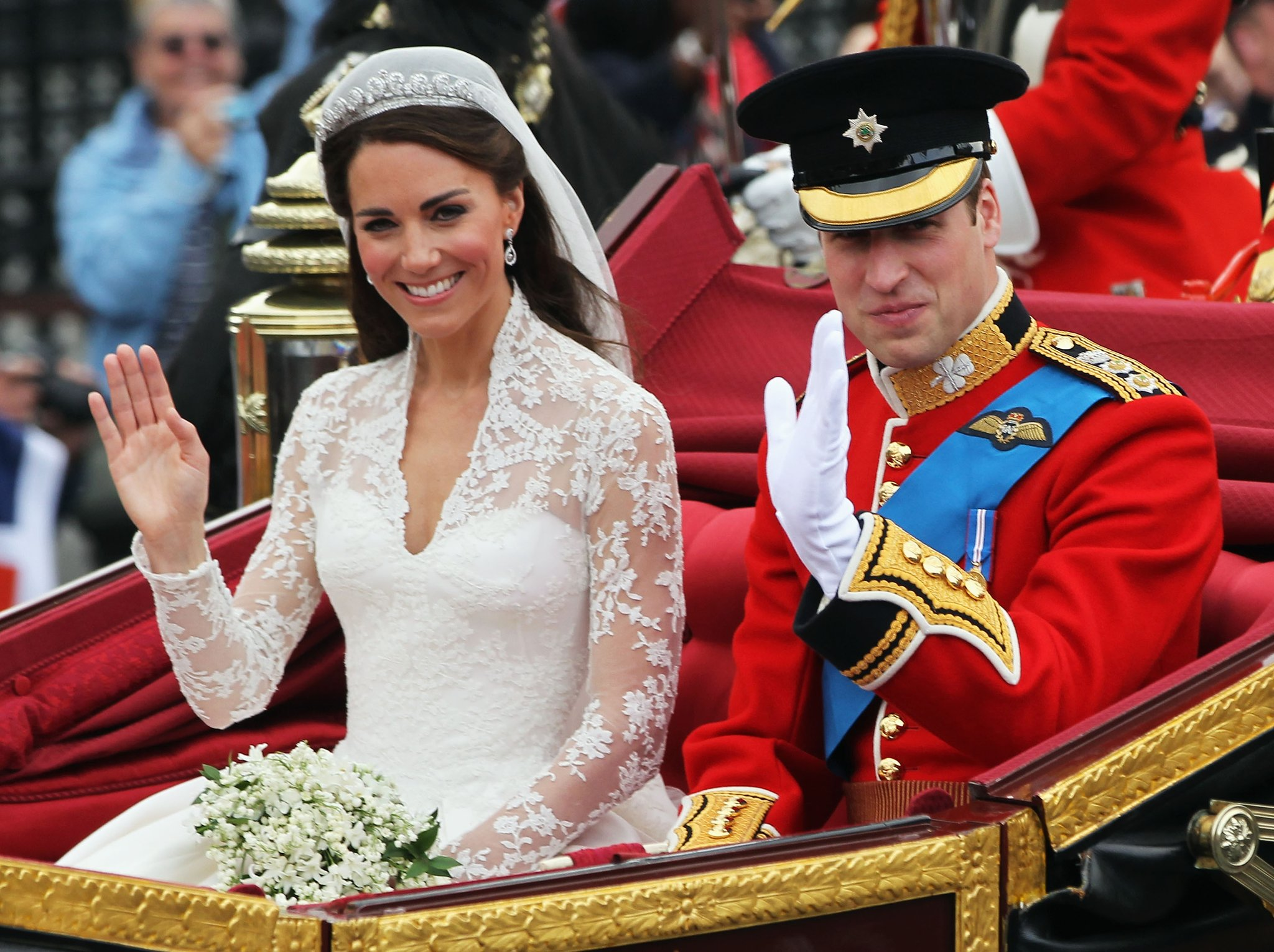 Prince William of England marries Kate Middleton.