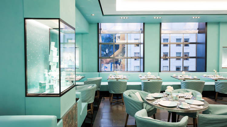 Breakfast at Tiffany's doesn't have to be a theme for your bridal shower, but a reality at Blue Box Cafe.