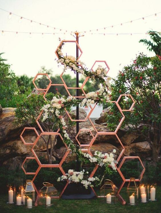 Gia Events — Geometric Ceremony Backdrops Ideas
