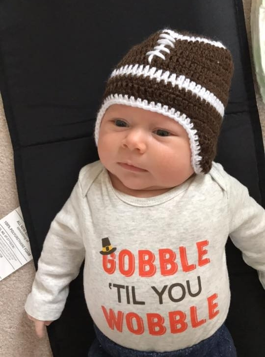 Asher last Thanksgiving..1 1/2 months old!