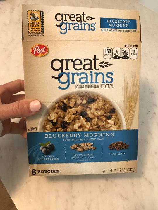 Blueberry oatmeal..so good!