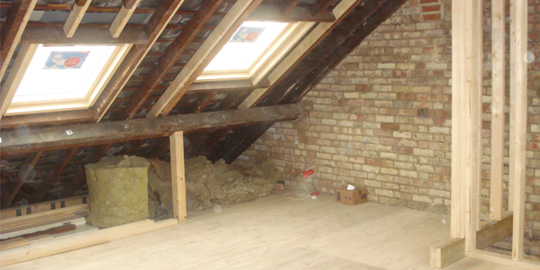 A loft conversion in progress