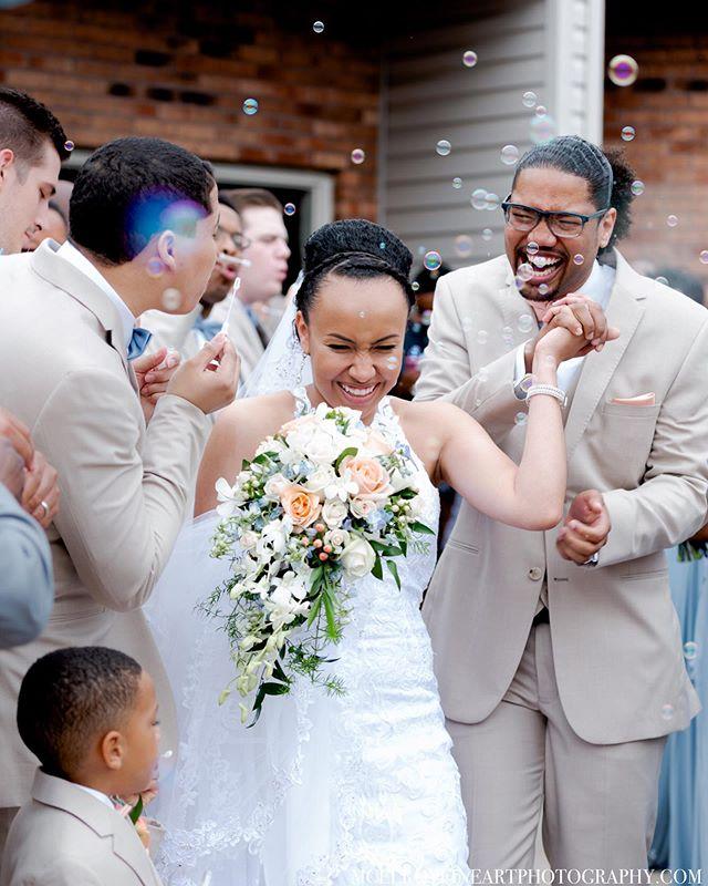 Congratulations DJ & Carissa!! • • • • #weddingphotographer #mcelroyfineartphoto #isaidyes #ofallonilphotographer #stlouisweddingphotographer #midwestwedding #stlweddingphotographer #collinsvilleilphotographer #weddinginspo #stlbride #stlwed #fineartwedding #weddingportrait #midwestwedding #bellevilleilweddingphotographer #bubbleexit #candidweddingphotos