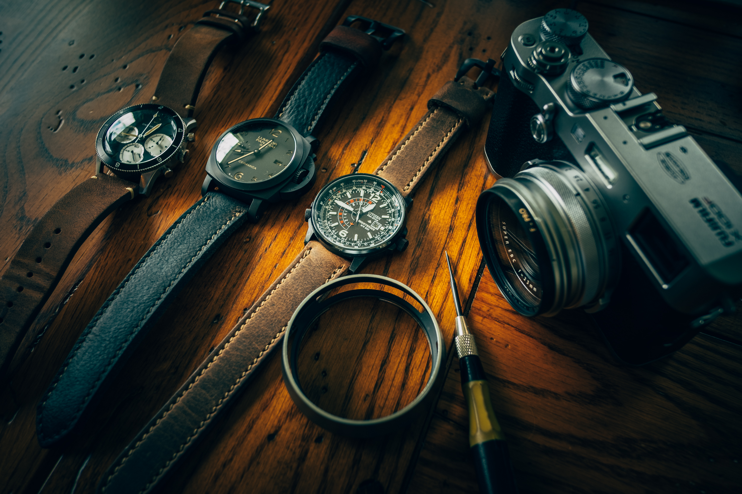 The X100F looking well suited in the company of nice things.