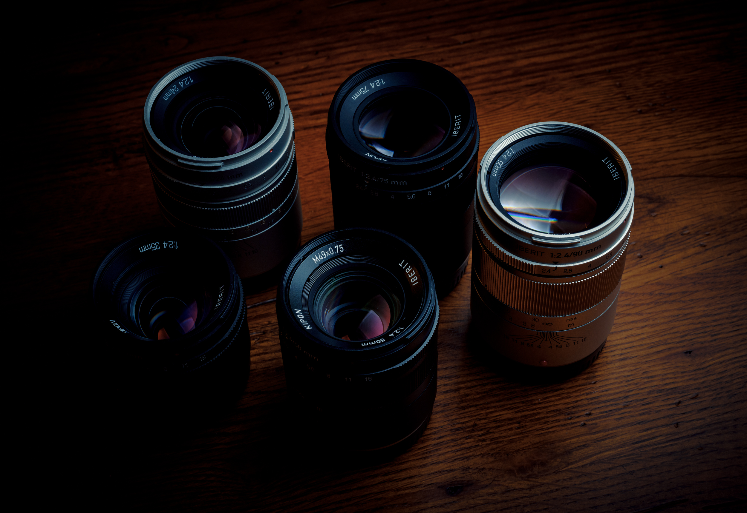 As you can see the sizing on all focal lengths are relatively similar with the exception of the 35mm.