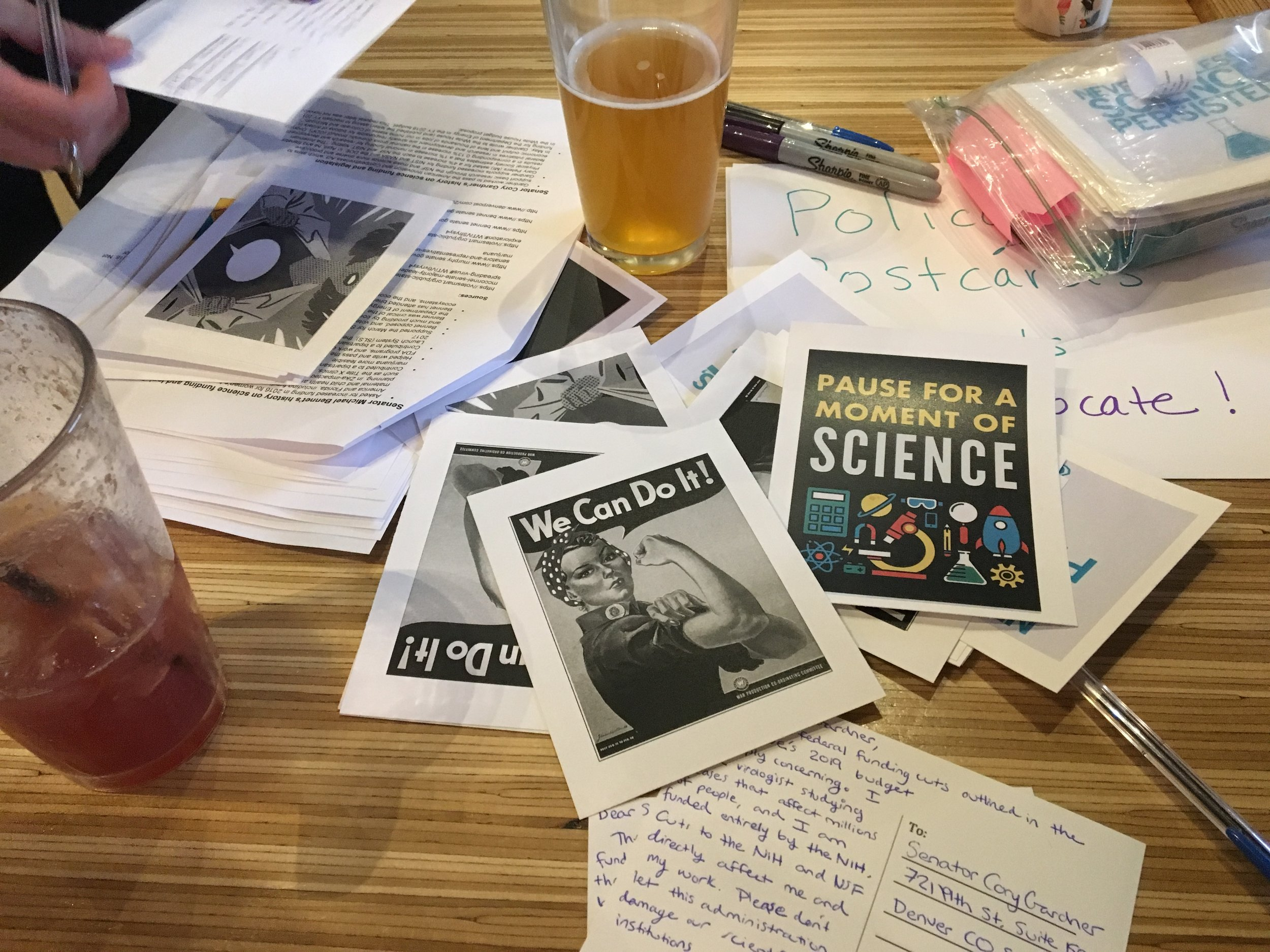Policy, postcards and pints - How CU Boulder graduate students are advocating for science.