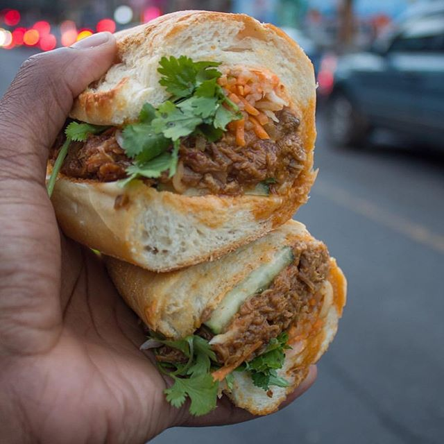 Our spicy pulled pork banh mi is pretty pretty good 📸 @nyc_cheatdayking