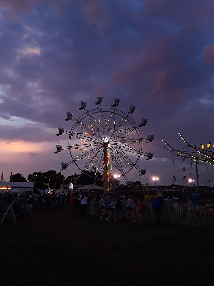 Sunset on the Fair Grounds, photo credit Kim Brewer