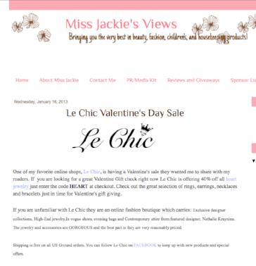 Miss Jackie's Views