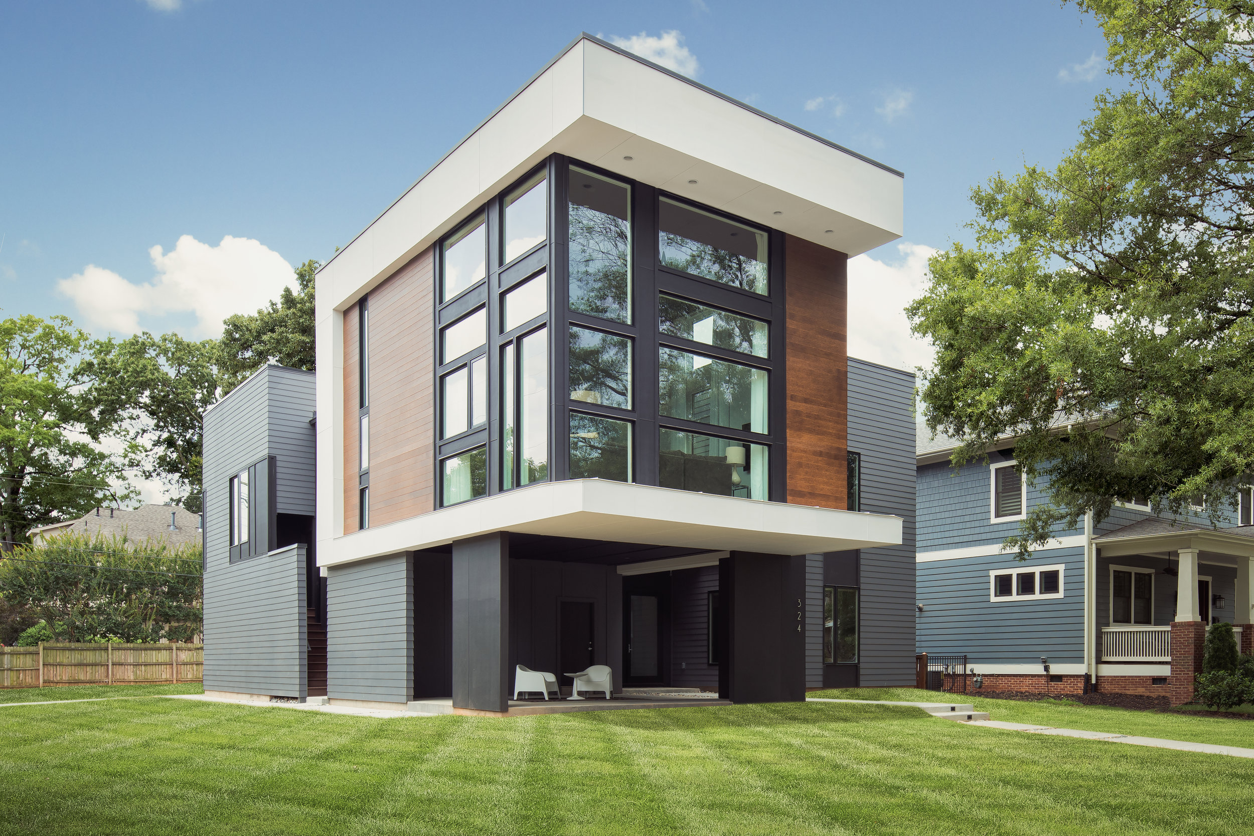 modern home in Charlotte
