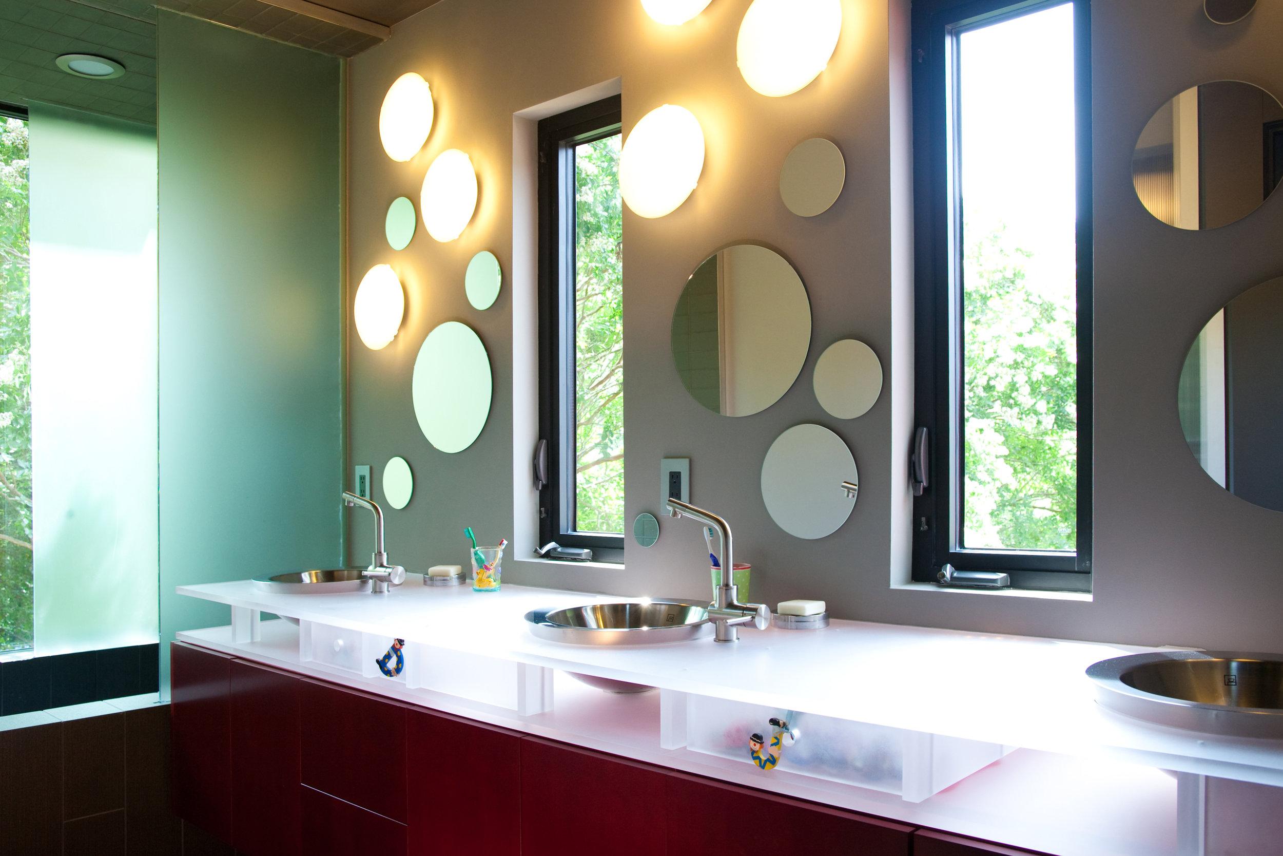 modern home bathroom interior