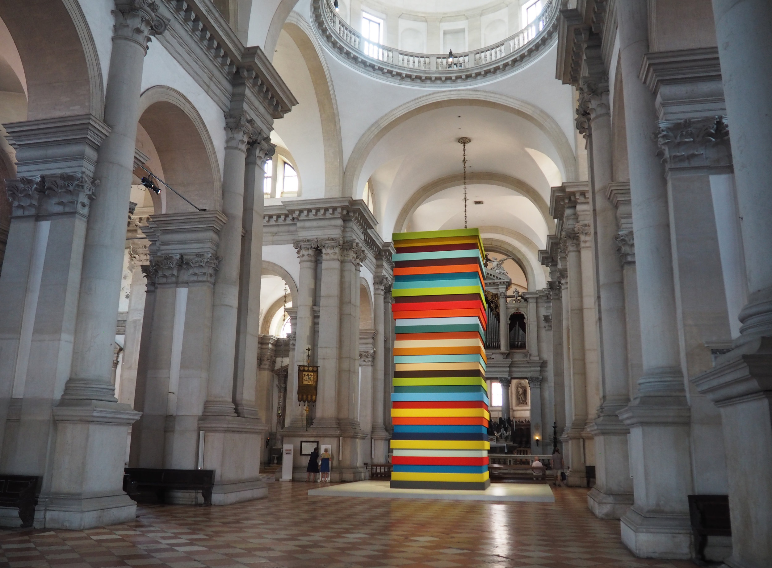 Interior and Dome, from our trip with a sculpture by Sean Scully