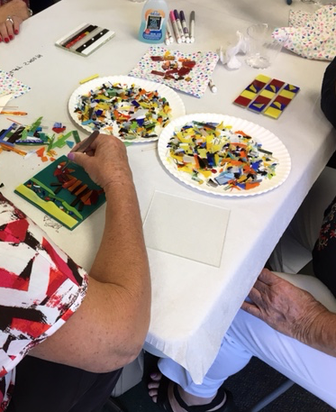 A Fused Glass Workshop Funded by FOSML