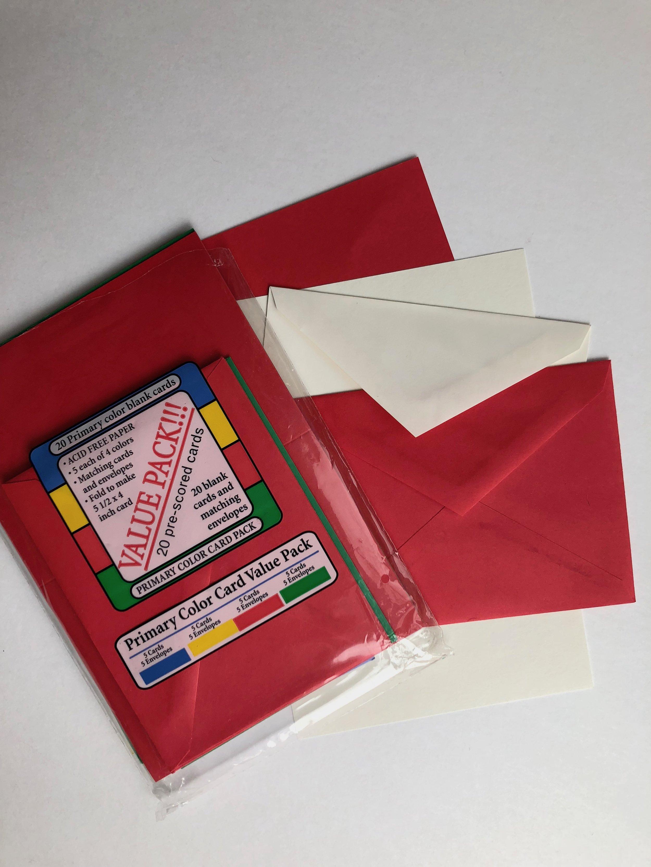 blank greeting card package