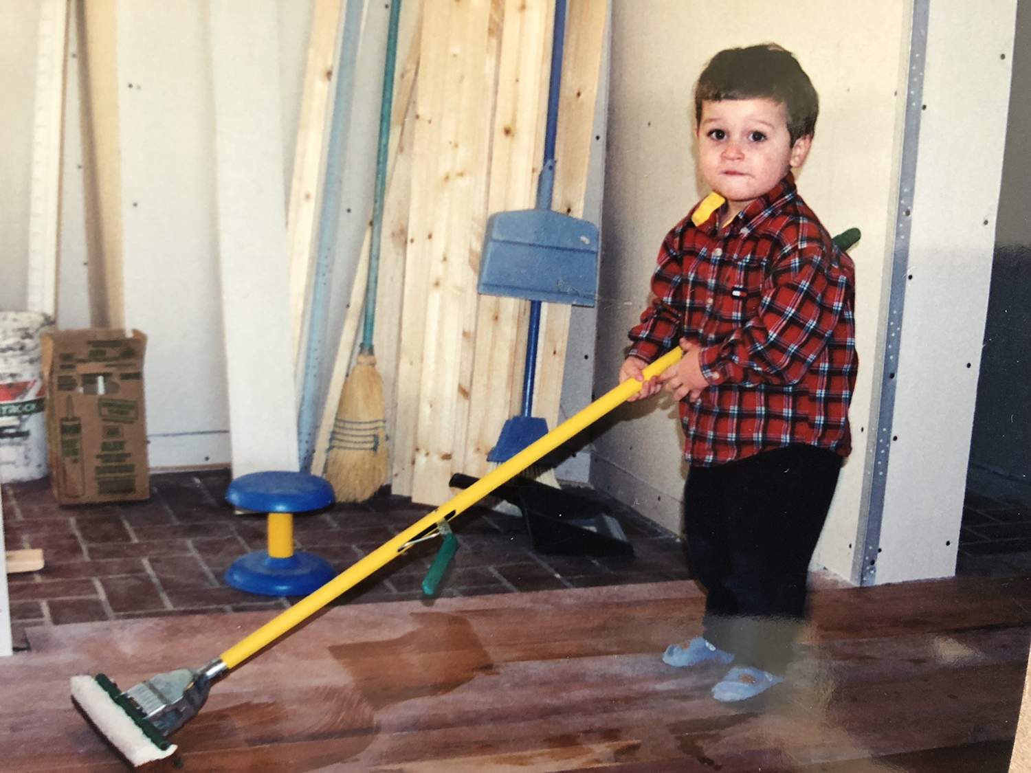 Kids helping with DIY House Flip