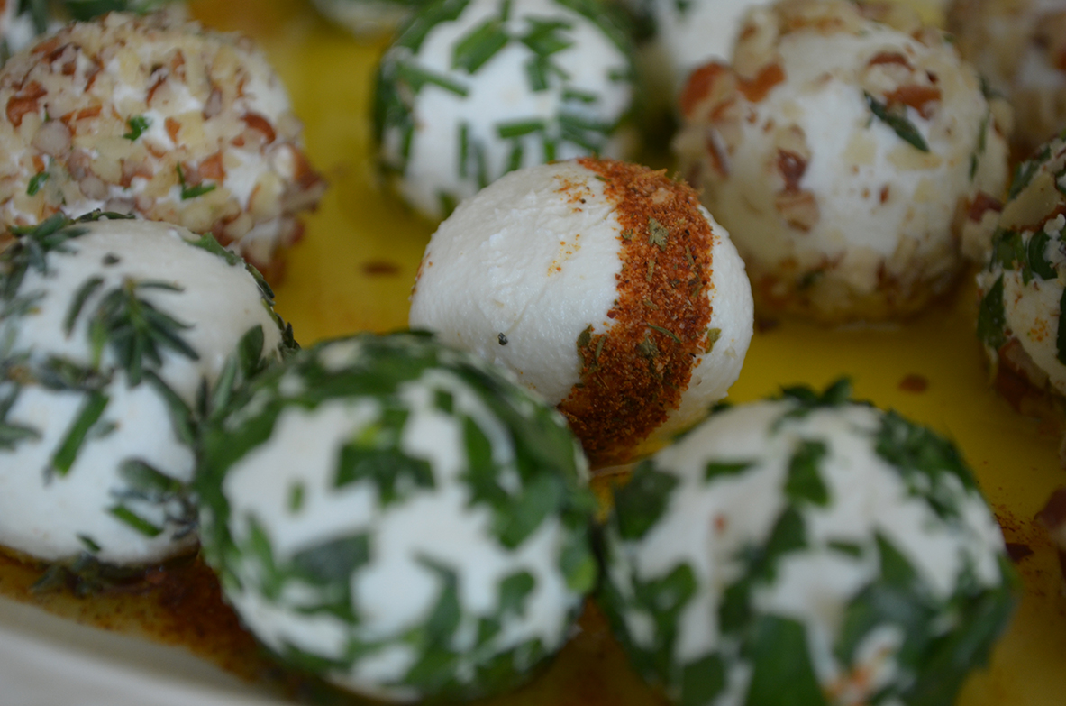 Herb and Spice Coated Goat Cheese Balls