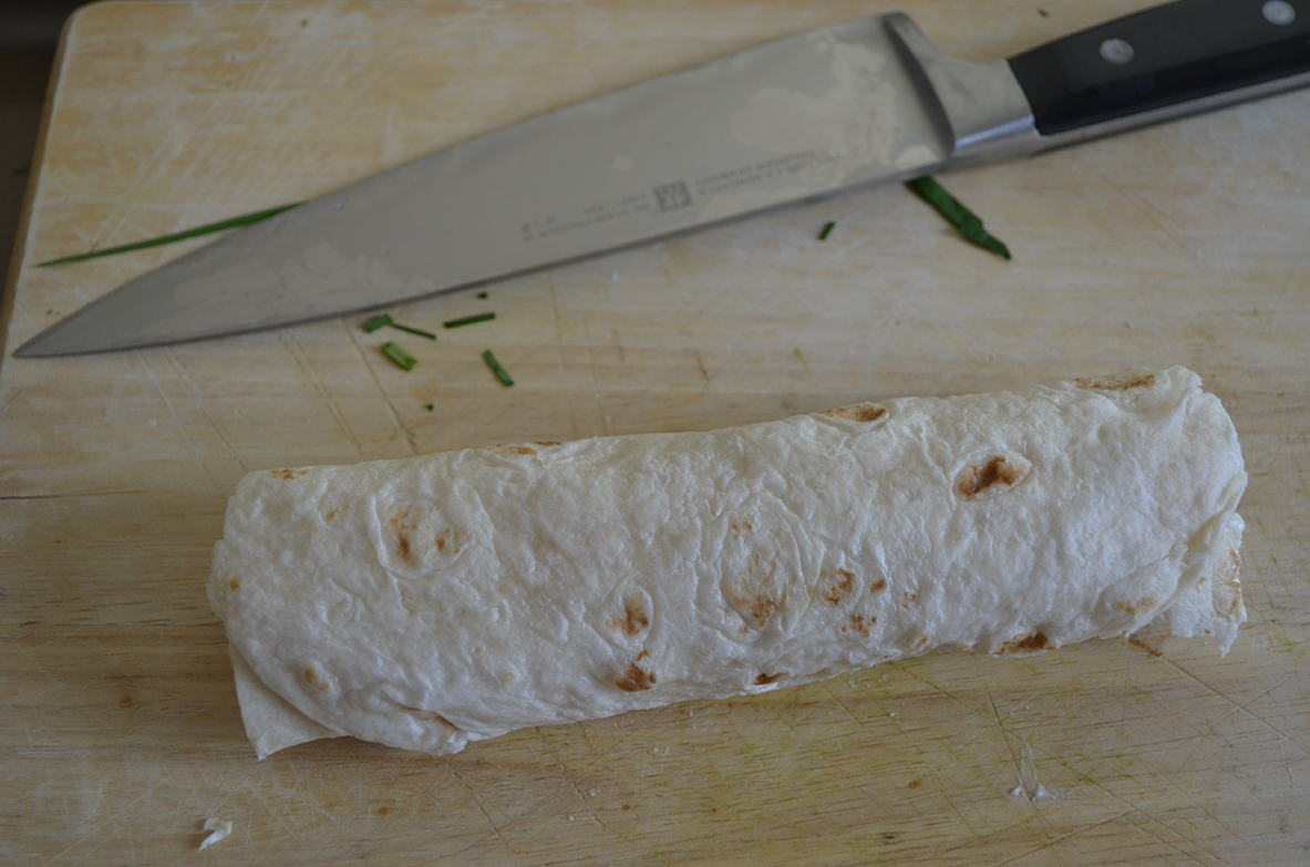 2 - Roll up tightly, slice and plate!