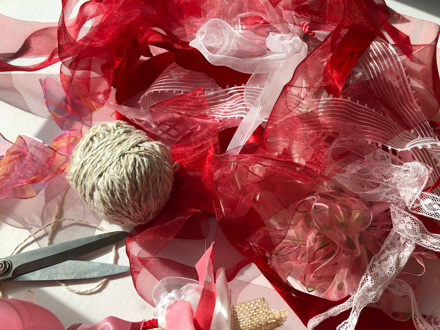 Make your own ribbon string