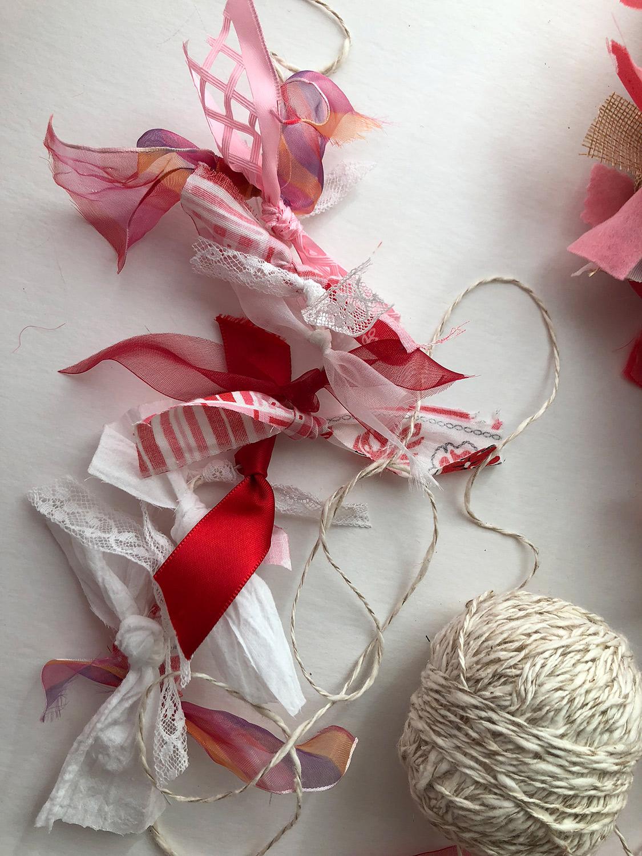Hand made ribbon string