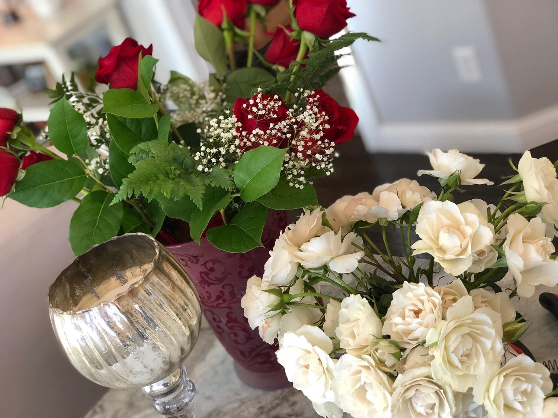 rose floral arrangments