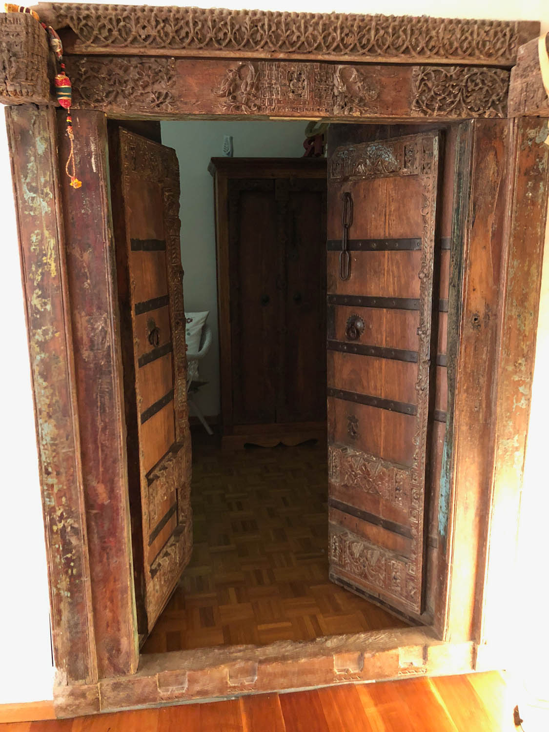 Doors leading to my bedroom in Florence, Italy