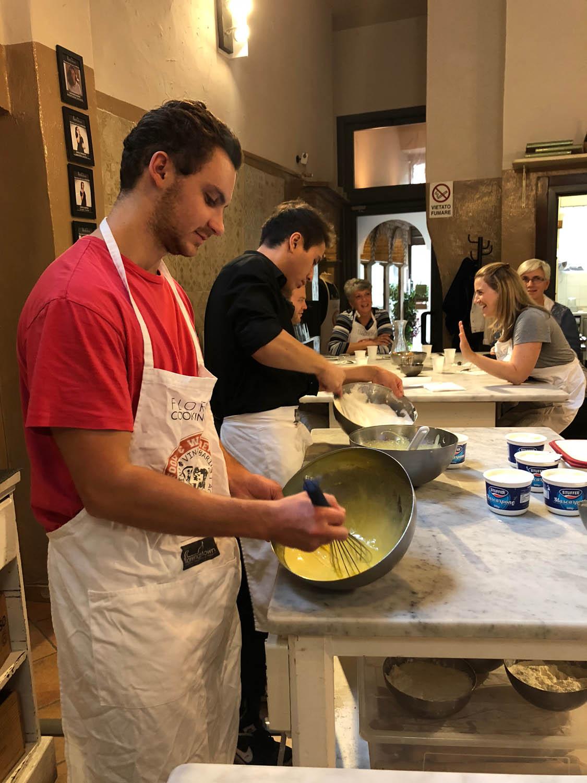 Tiramisu cooking class in Florence, Italy