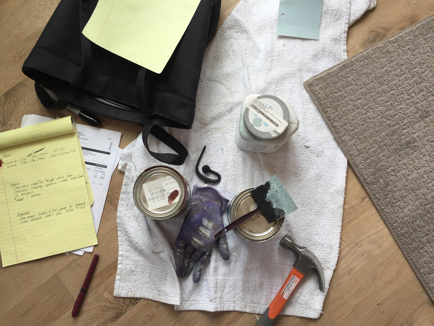 Office-on-the-go home remodel notes and tools