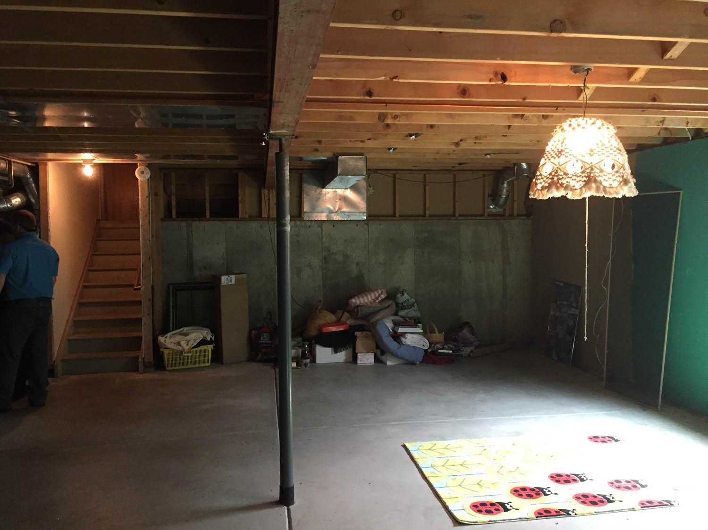basement remodel before