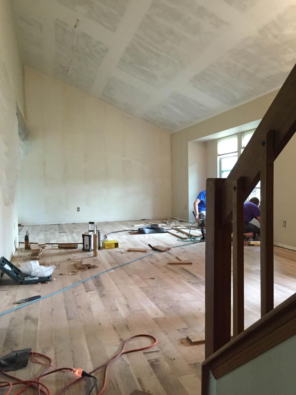 oak flooring installation