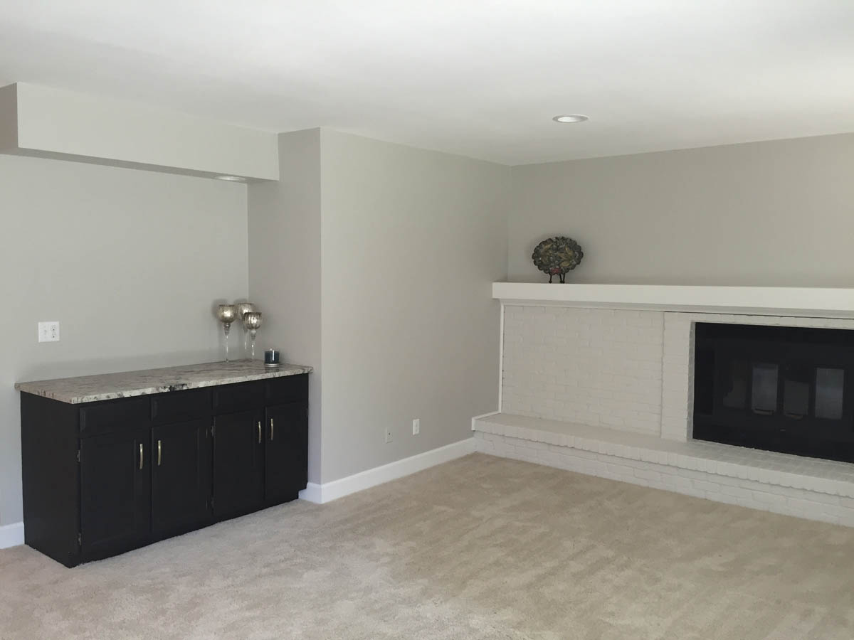 family room after remodel/redecorate