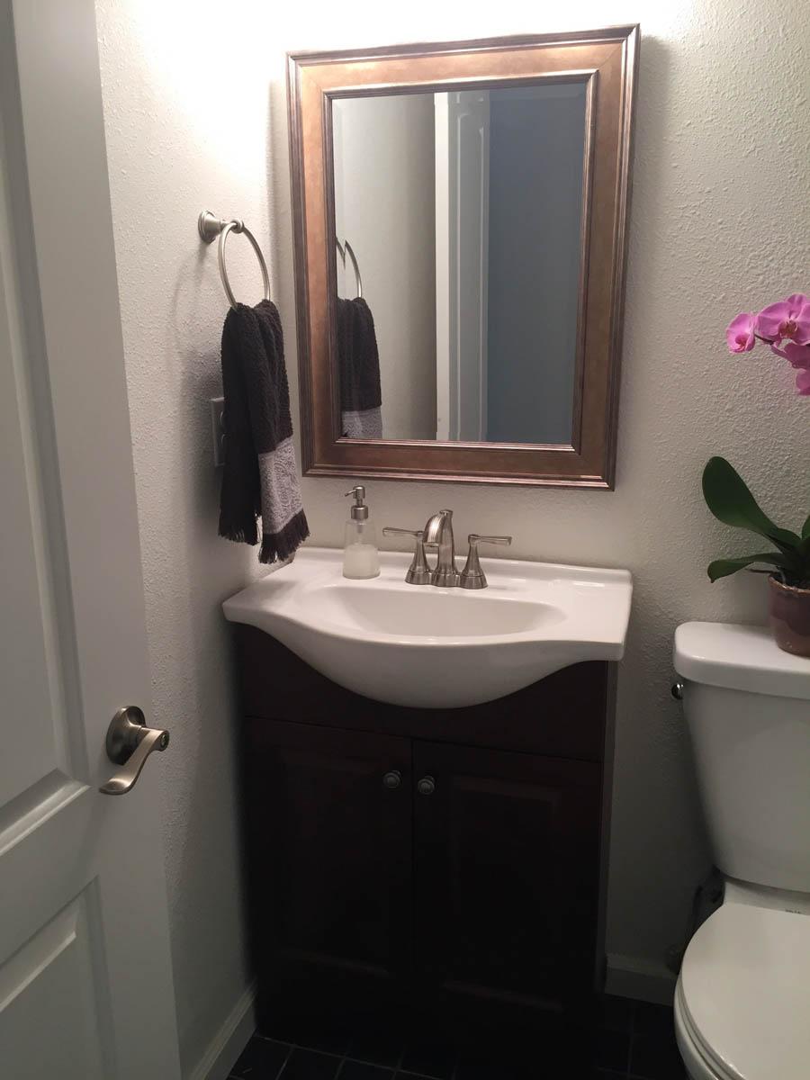 powder room after remodel