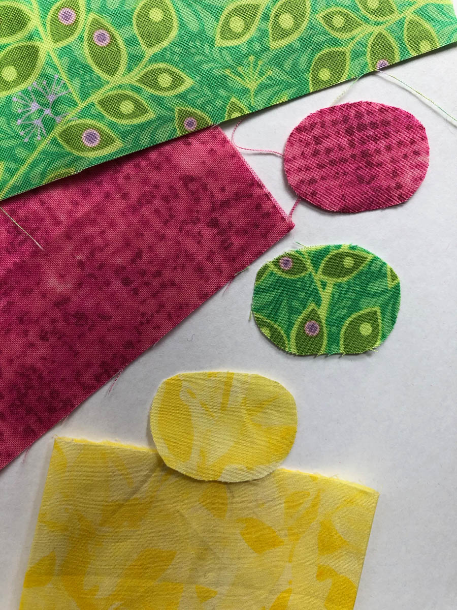 Fabric oval cut-outs for card
