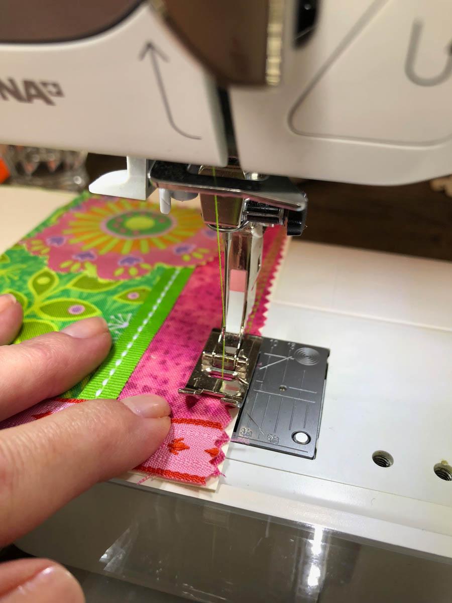 Decorative sewing machine stitch