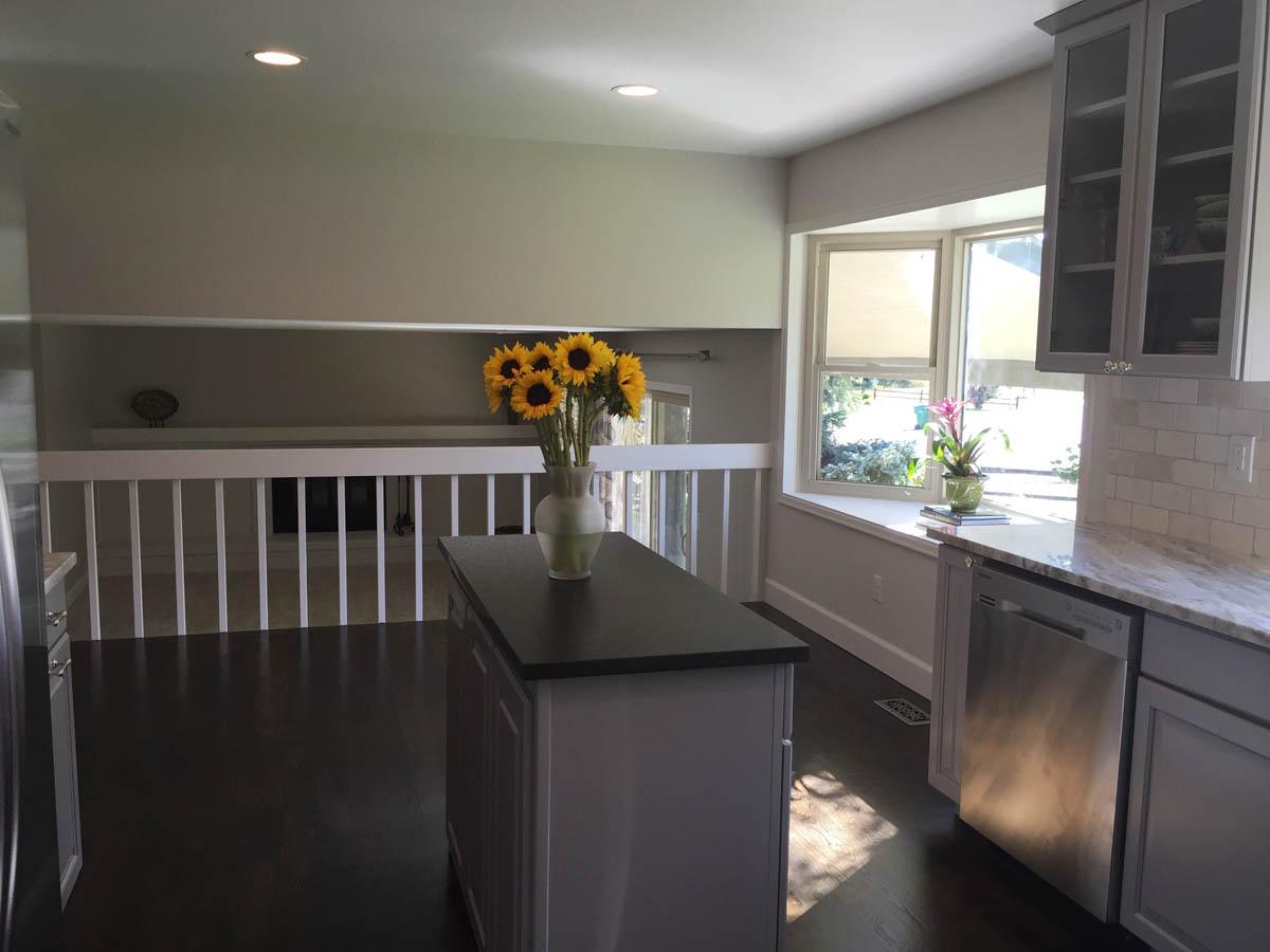 kitchen island after remodel