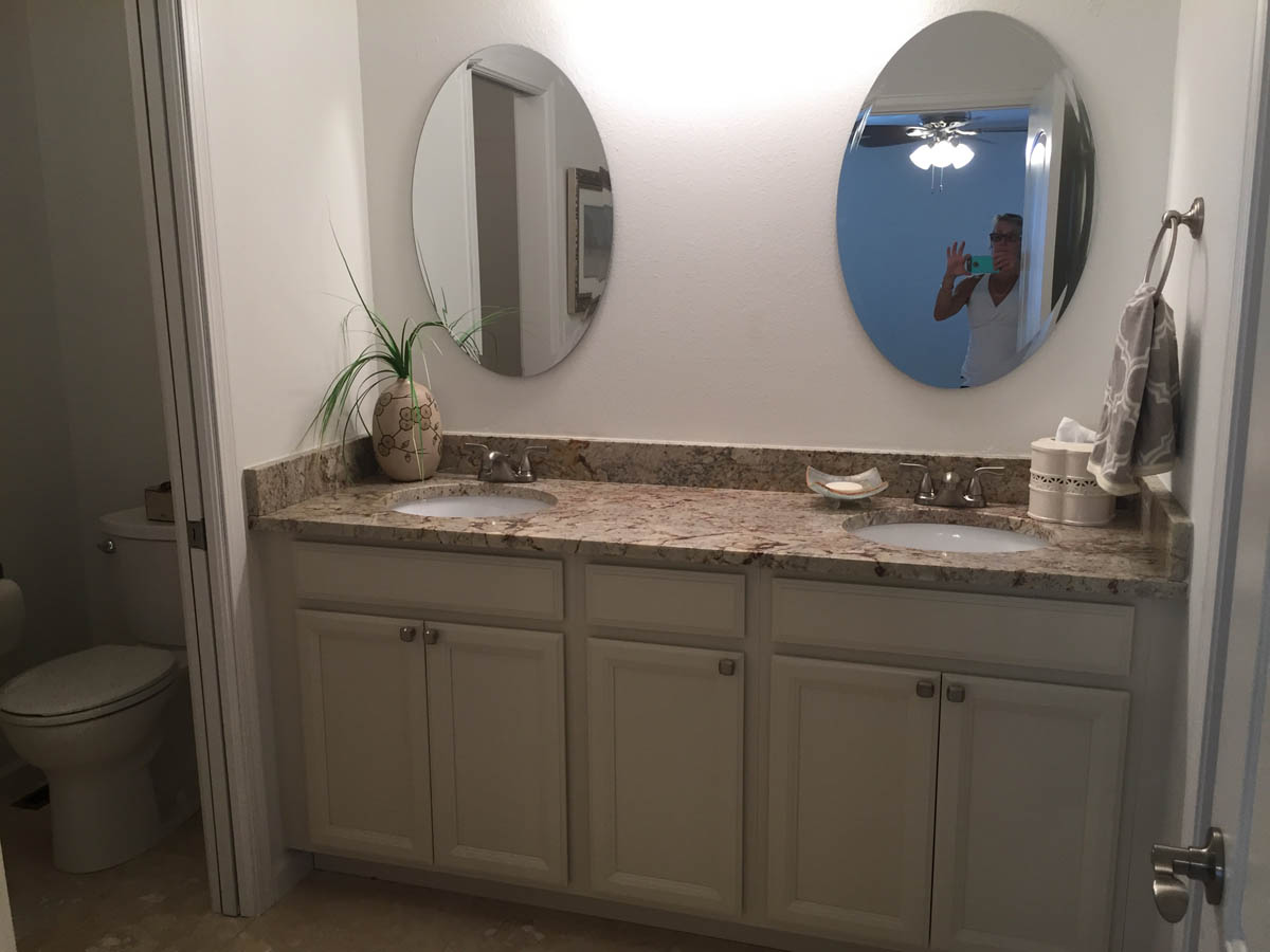 master bathroom sinks after remodel