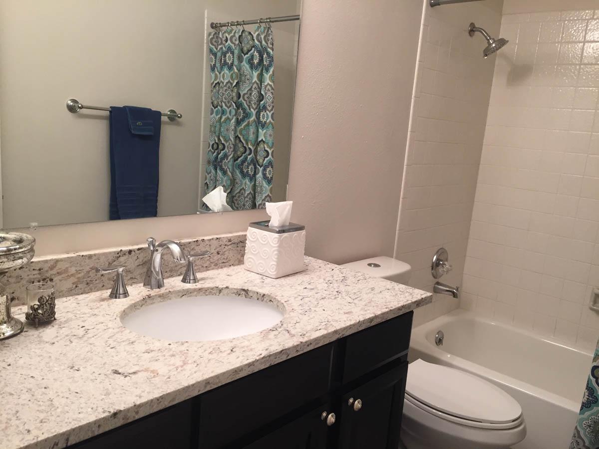 upstairs bathroom sink remodeled