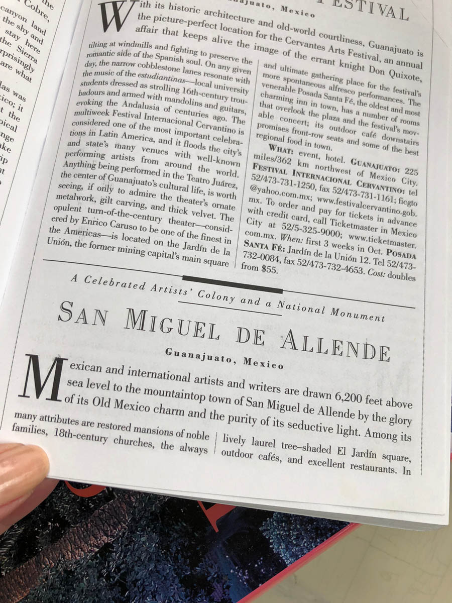 San Miguel de Allende travel book
