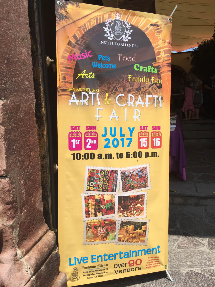 arts and crafts fair in San Miguel de Allende