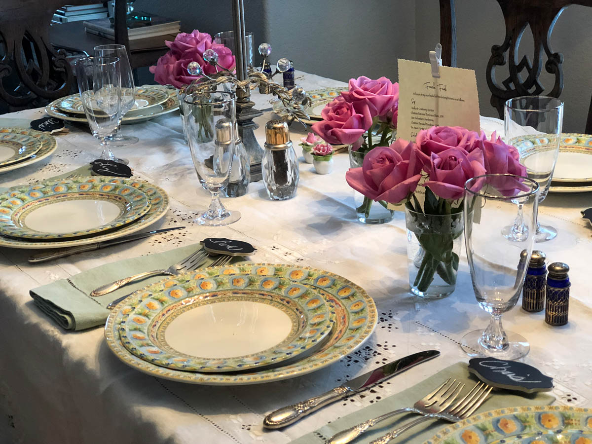 table setting before the meal