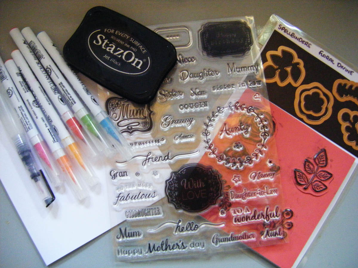 Supplies for paper craft hand made greeting card