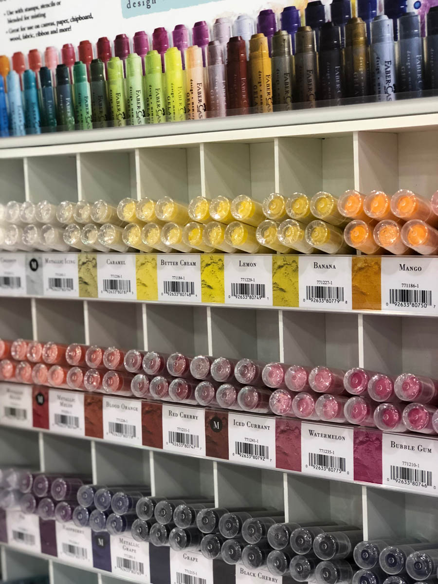 Faber-Castell mixed media paints display