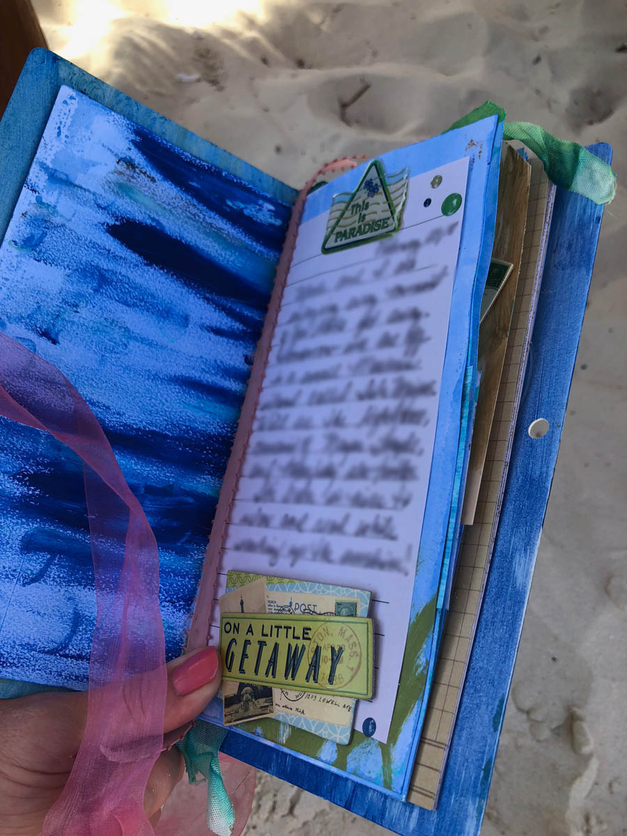 Journal page from mixed-media notebook