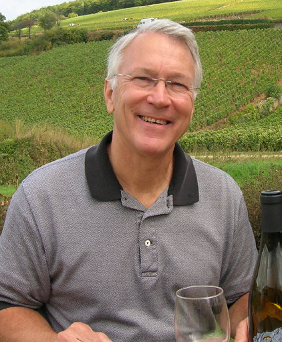 Gary Cox photographed in a wine vineyard