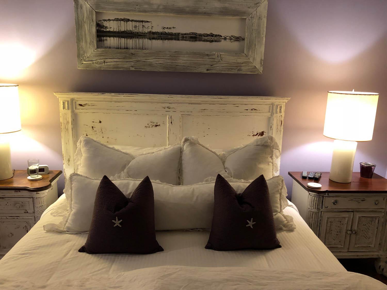 Airbnb condo bedroom in Watercolor, Florida