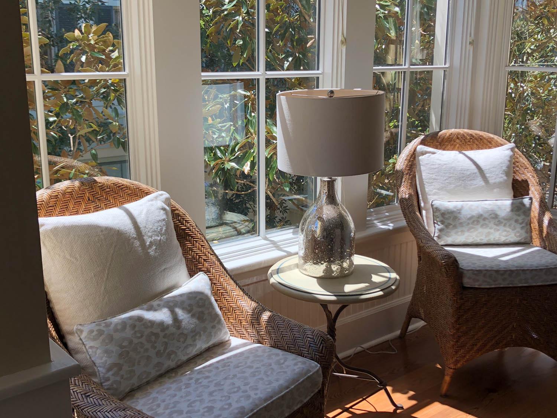 Airbnb condo sitting area in Watercolor, Florida
