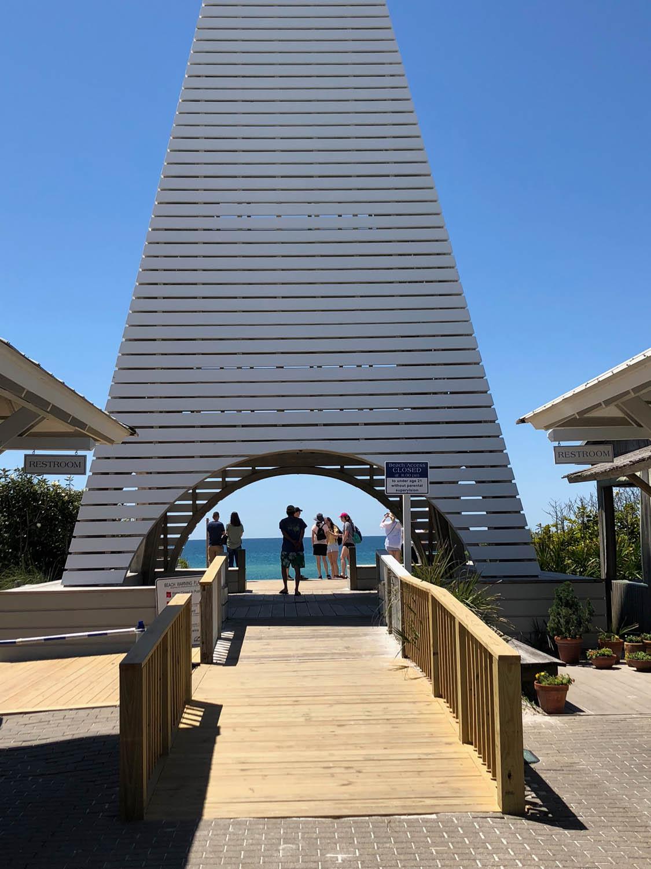 Archway leading to Grayton Beach in Seaside, Florida