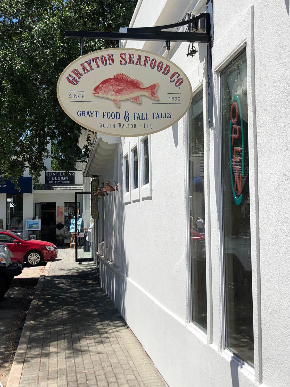 Grayton Seafood Company restaurant in Grayton Beach, Florida