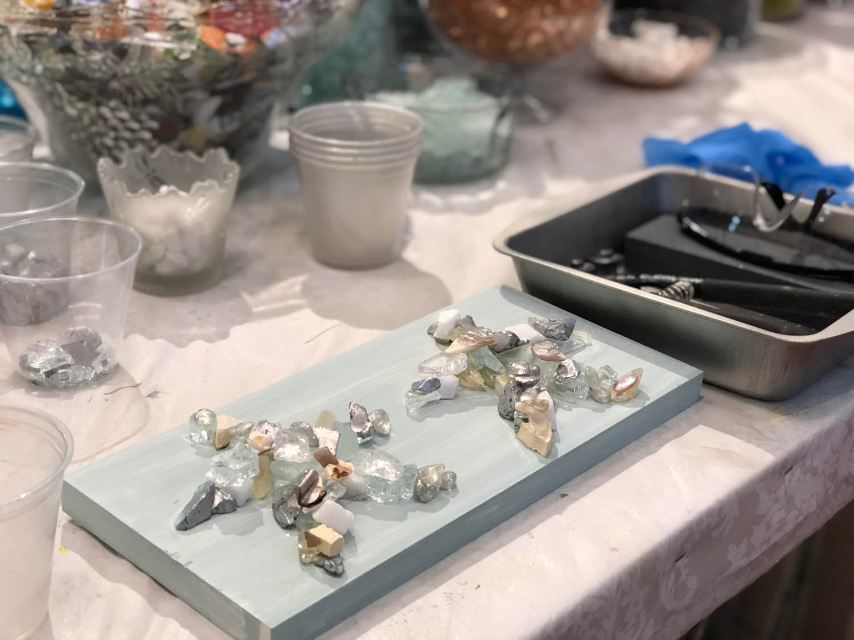 Starfish art glass project at The Shard Shop